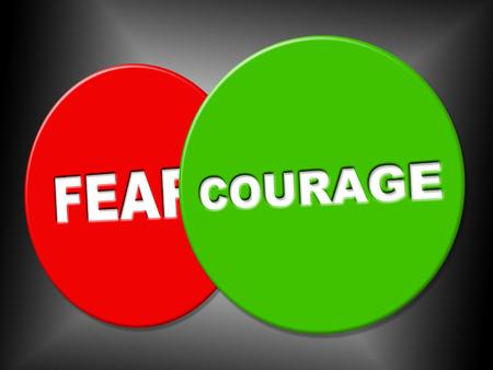 grinta: Coraggio Segno Mostrando Grit courageousness E Manifesto