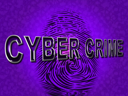 cyber crime: Cyber Crime Meaning Virus Vulnerable And Crack Stock Photo