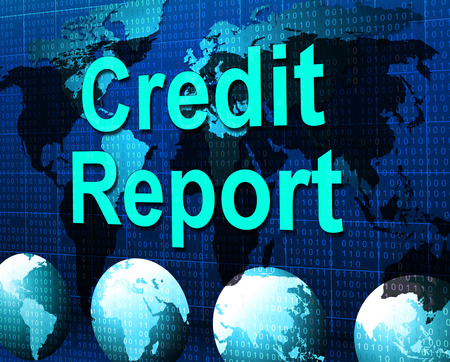 credit report: Credit Report Showing Loan Debit And Owed Stock Photo