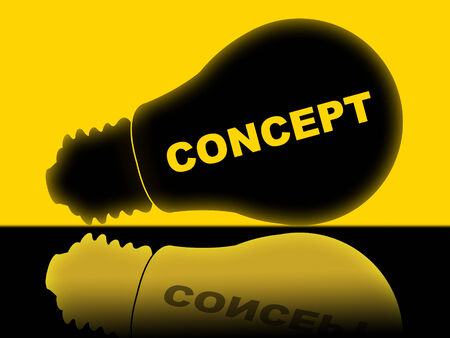 hypothesis: Concepto Bombilla Representando Hip�tesis Piense Y L�mpara