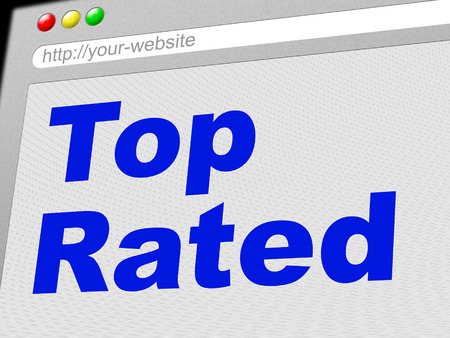 incomparable: Top Rated Meaning Number One And Incomparable Stock Photo