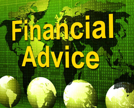 recommendations: Financial Advice Meaning Inform Figures And Business Stock Photo