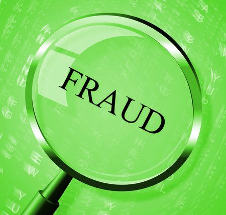 Fraude Magnifier Betekenis Rip Off En Scamming