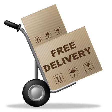 compliments: Free Delivery Indicating With Our Compliments And For Nothing