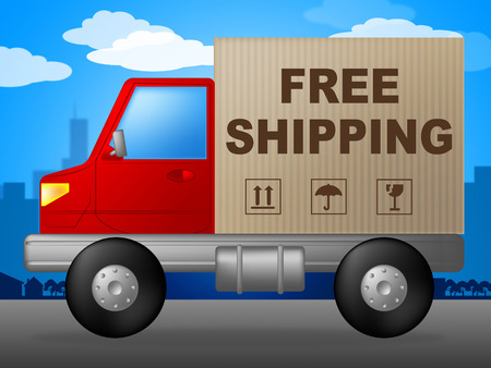 handout: Free Shipping Indicating Without Charge And Handout