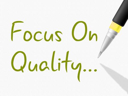 uitstekend: Focus op kwaliteit tonen Excellent goedkeuren en perfectie Stockfoto