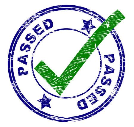 passed stamp: Passed Stamp Showing All Right And Affirm