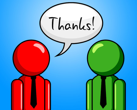 confab: Thanks Conversation Showing Talk Thankfulness And You