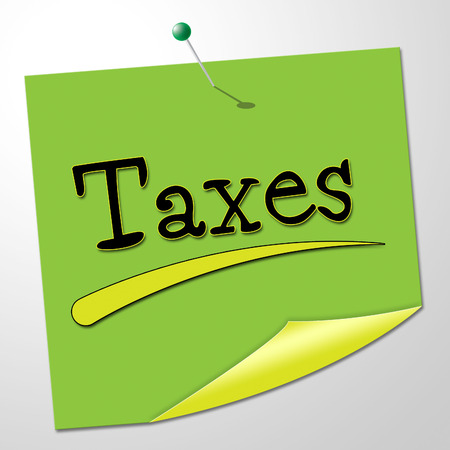 correspond: Taxes Note Indicating Correspond Taxpayer And Messages Stock Photo