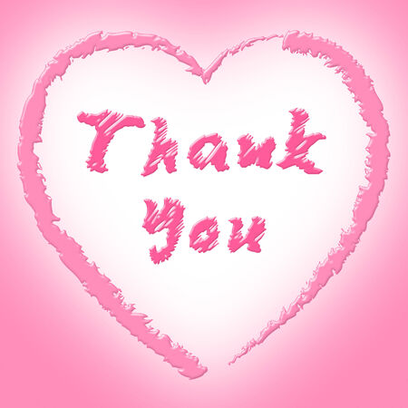 gratefulness: Thank You Representing Heart Shapes And Gratefulness Stock Photo