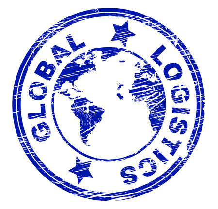 coordinating: Global Logistics Showing Strategy Process And Coordinating