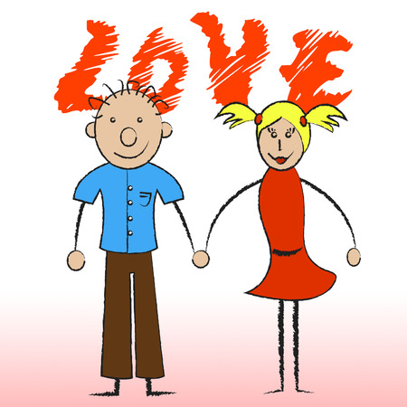 compassionate: Love Couple Showing Compassionate Affection And Boyfriend