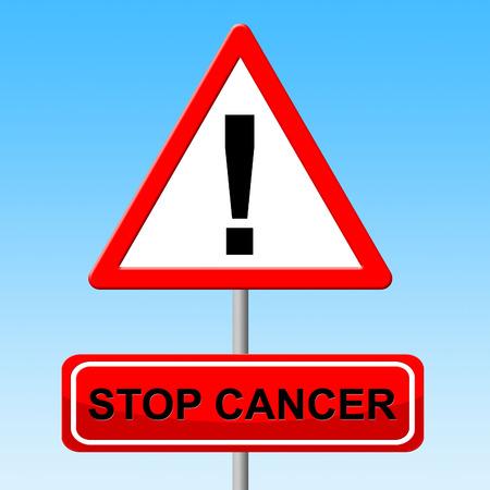 maligno: Detener el C�ncer Significado Crecimiento maligno y Advertencia Foto de archivo