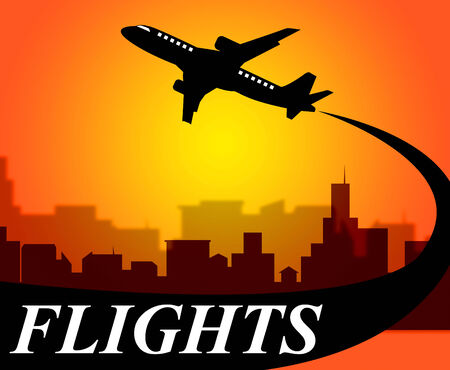 time off: Flights Plane Representing Go On Leave And Time Off Stock Photo