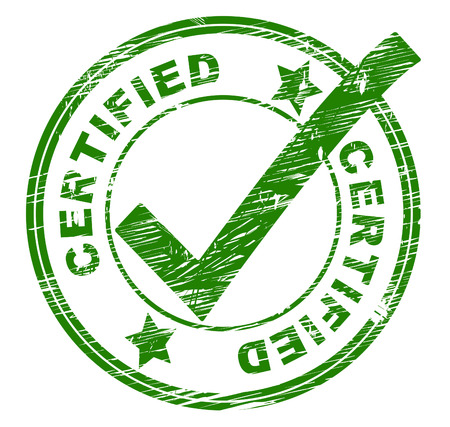 attest: Certified Stamp Showing Mark Attest And Print Stock Photo