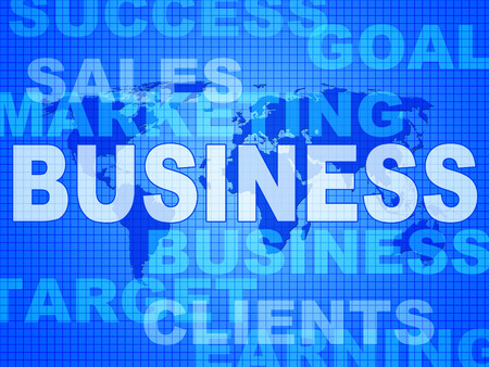 biz: Business Words Meaning Selling Biz And Commercial Stock Photo