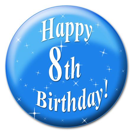 eighth: Happy Eighth Birthday Meaning Congratulation Party And Celebrate
