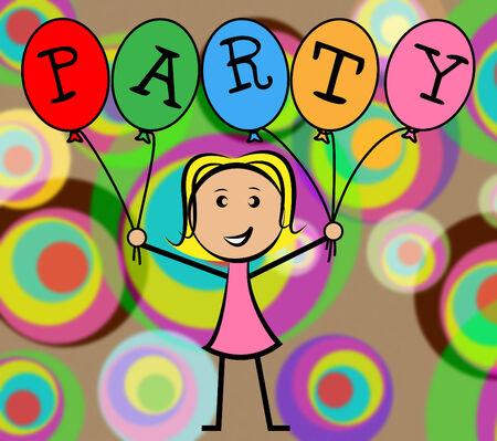globos fiesta: Globos de la fiesta Mostrando Mujer Joven Y Diversi�n