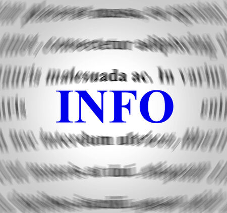 Info Definition Representing Means Meaning And Assistance Banco de Imagens