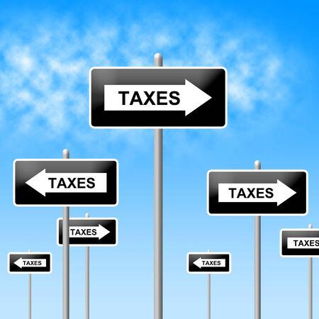 excise: Tasse cartello che indica Corporation contribuente e Corporate