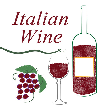 intoxicating: Italian Wine Representing Intoxicating Drink And Alcoholic