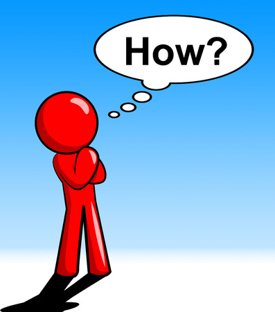 know how: Character Thinking Why Representing Know How And Reflecting Stock Photo