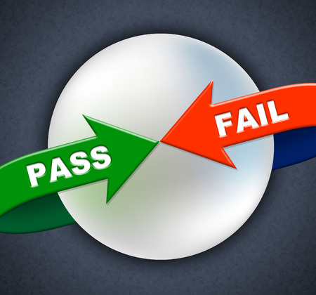 endorsed: Pass Fail Arrows Meaning Approve Approval And Passing