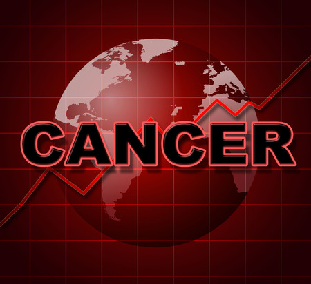 malignancy: Cancer Graph Representing Finance Infograph And Cancers Stock Photo