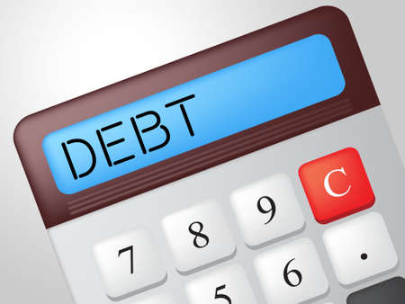 indebted: Debt Calculator Showing Financial Obligation And Indebted