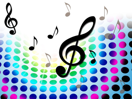 soundtrack: Music Background Representing Musical Note And Acoustic Stock Photo