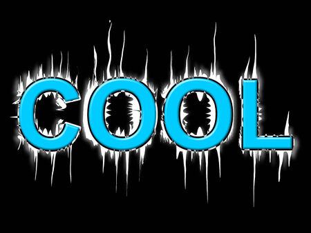 coldness: Cool Word Representing Freezing Coldness And Cold