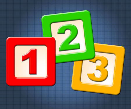 numeracy: Numeracy Blocks Showing Childhood Numerals And Numbers