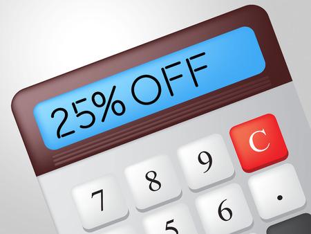 twenty five: Veinticinco por ciento Significado Calculadora Oferta y ventas