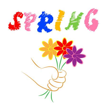 springtime: Spring Flowers Representing Seasons Warm And Springtime