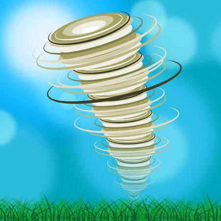 whirlwind: Whirlwind Tornado Representing Hurricane Swirl And Powerful