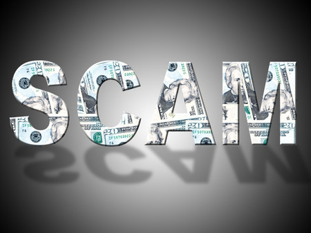 scamming: Scam Dollars Representing United States And Extortion