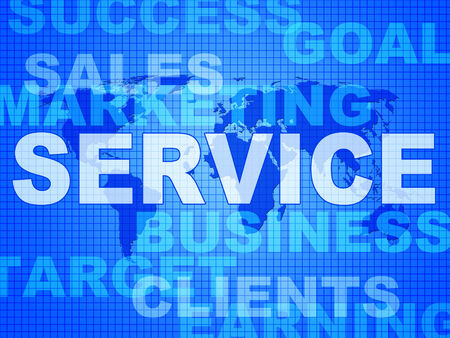 service desk: Service Words Showing Help Desk And Answers