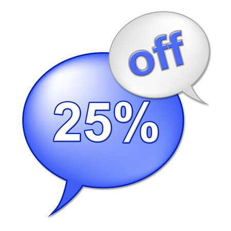 closeout: Twenty Five Percent Meaning Closeout Savings And Merchandise