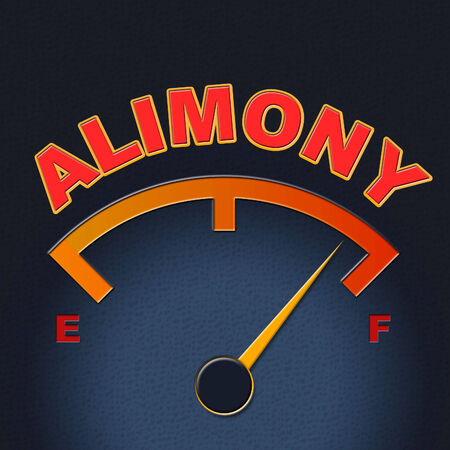 the spouse: Alimony Gauge Meaning Spouse Payment And Display Stock Photo