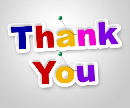 agradecimiento: Gracias firmar Representando Muchas gracias y Display