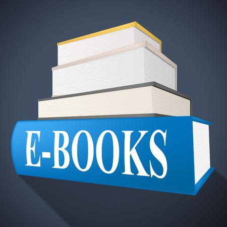 e books: E Books Meaning World Wide Web And Website Stock Photo