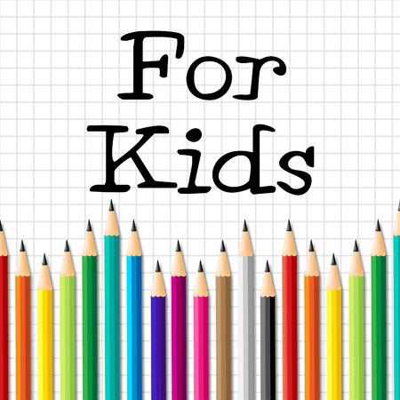 lernte: F�r Kinder Bleistifte Bedeutung Kindheit Schule und lernte