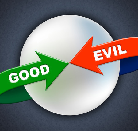 vile: Good Evil Arrows Showing Not Bad And Ok