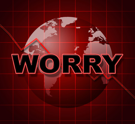 tenseness: Worry Graph Meaning Graphics Apprehensiveness And Concern Stock Photo