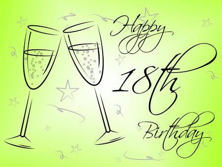 eighteenth: Happy Eighteenth Birthday Meaning Fun Celebrating And Joy