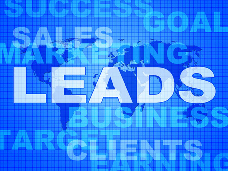 Leads Words Showing Vending E-Commerce And Retail Stock Photo - 33353084