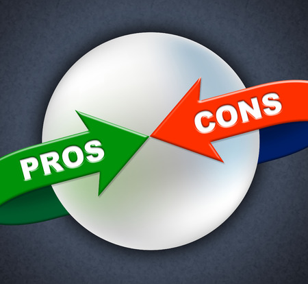 cons: Pros Cons Arrows Meaning Yep Agreeing And Denial