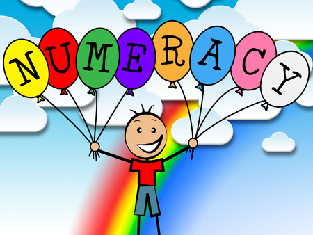 numeracy: Numeracy Balloons Showing Numeric Digits And Numeral