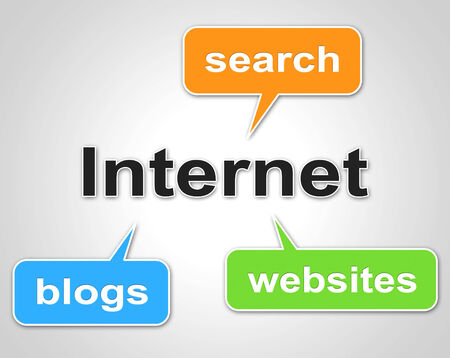 website words: Internet Words Showing World Wide Web And Website Stock Photo