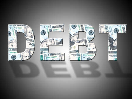 indebt: Debt Dollars Representing United States And Us